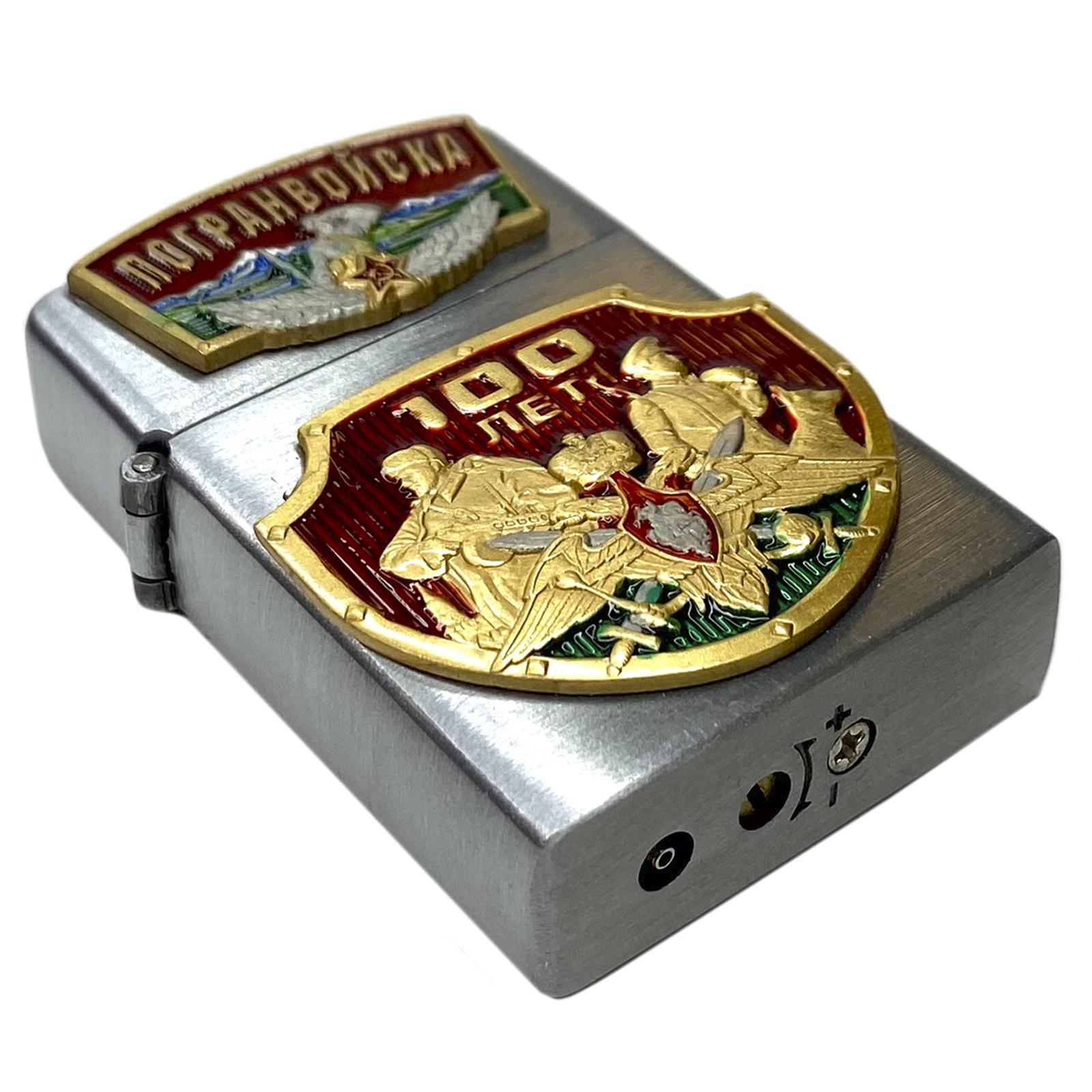 """Подарочная зажигалка Zippo """"Пограничным войскам 100 лет"""" по выгодной цене"""