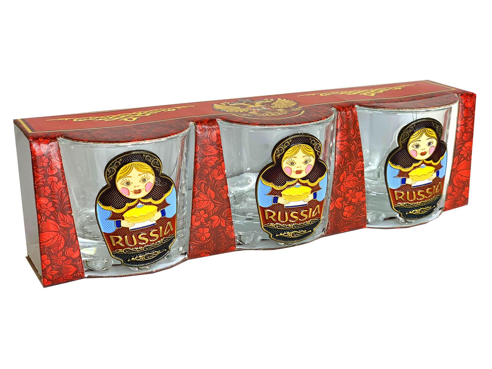 Подарочный набор стопок Russia