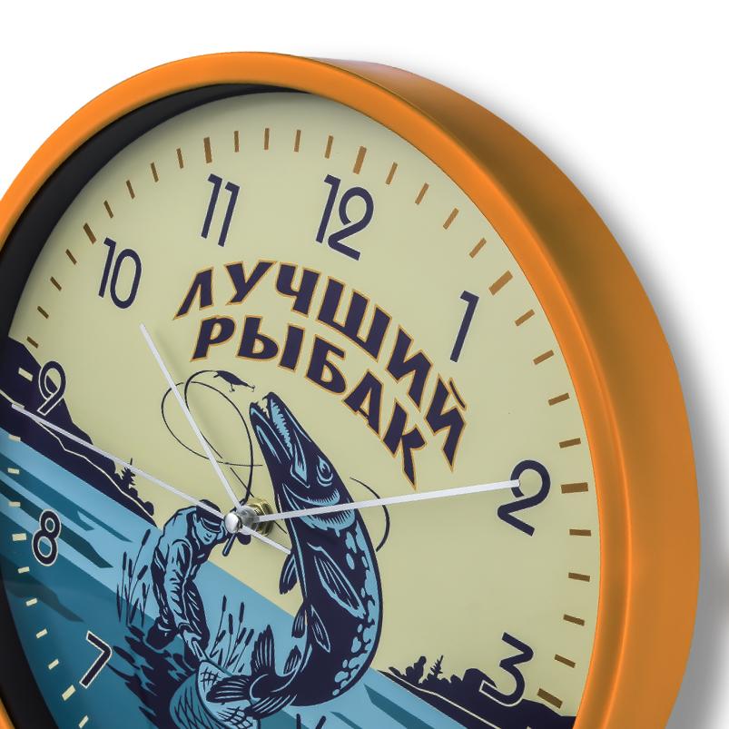 Подарочные настенные часы Лучшему рыбаку купить в Военпро