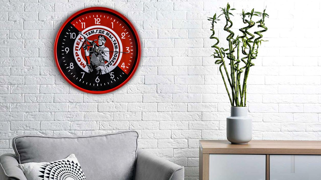 """Подарочные настенные часы """"Морская пехота"""""""
