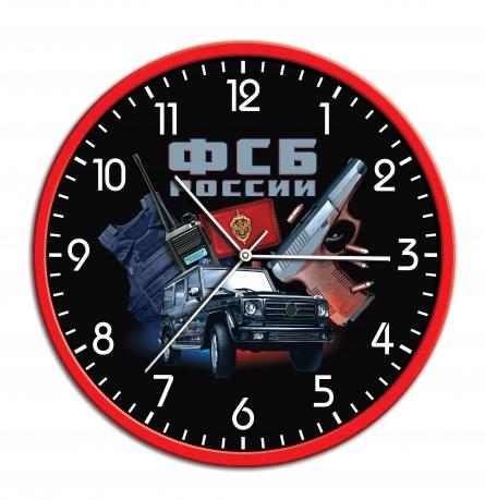 Подарочные настенные часы с принтом ФСБ