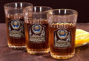 """Подарочные стаканы """"Рожден в СССР"""" с доставкой"""