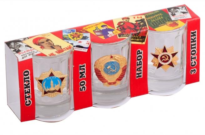 Подарочные стопки с Советскими наградами