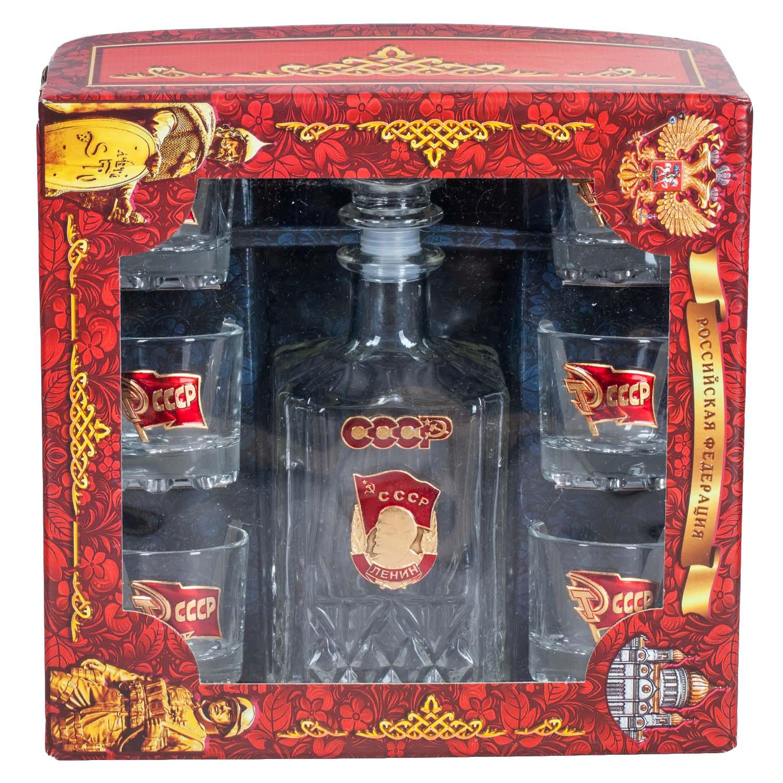 """Подарочный набор для алкоголя """"Советский"""" в упаковке"""
