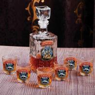 """Подарочный набор для алкоголя """"Военная разведка"""" (графин +6 стопок)"""