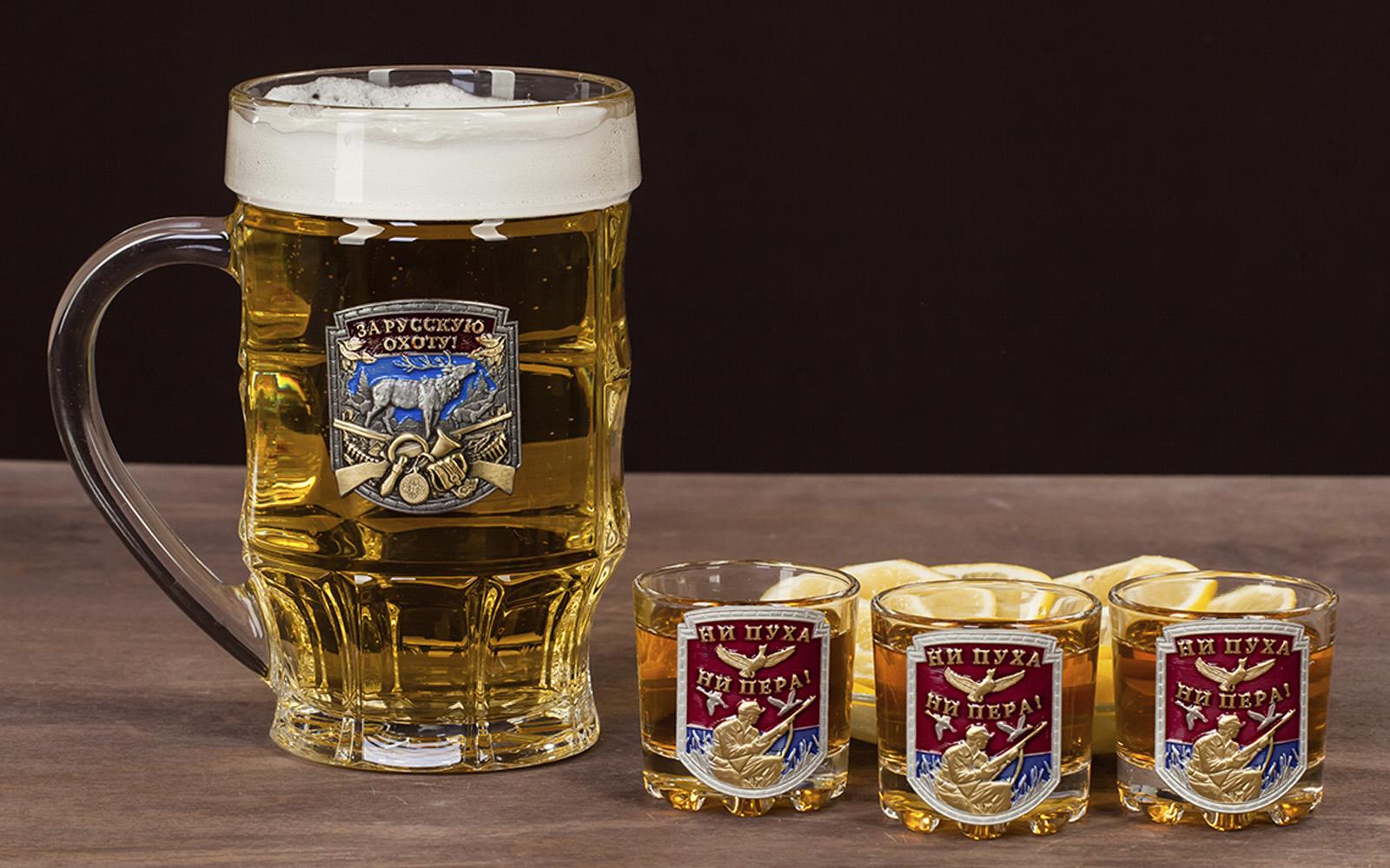 """Подарочный набор для алкоголя """"За русскую охоту!"""" по лучшей цене"""