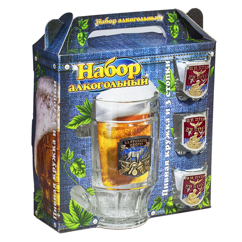 """Подарочный набор для алкоголя """"За русскую охоту!"""""""