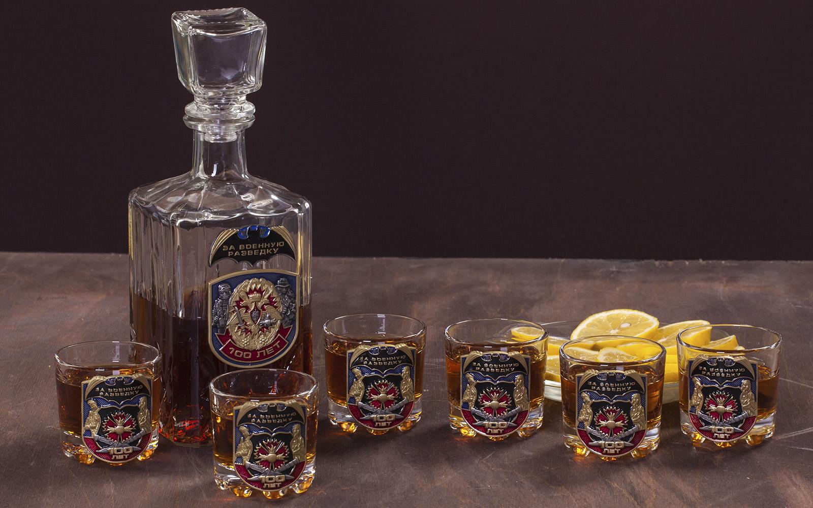 """Подарочный набор для крепких напитков """"За Военную разведку! 100 лет"""" с доставкой"""