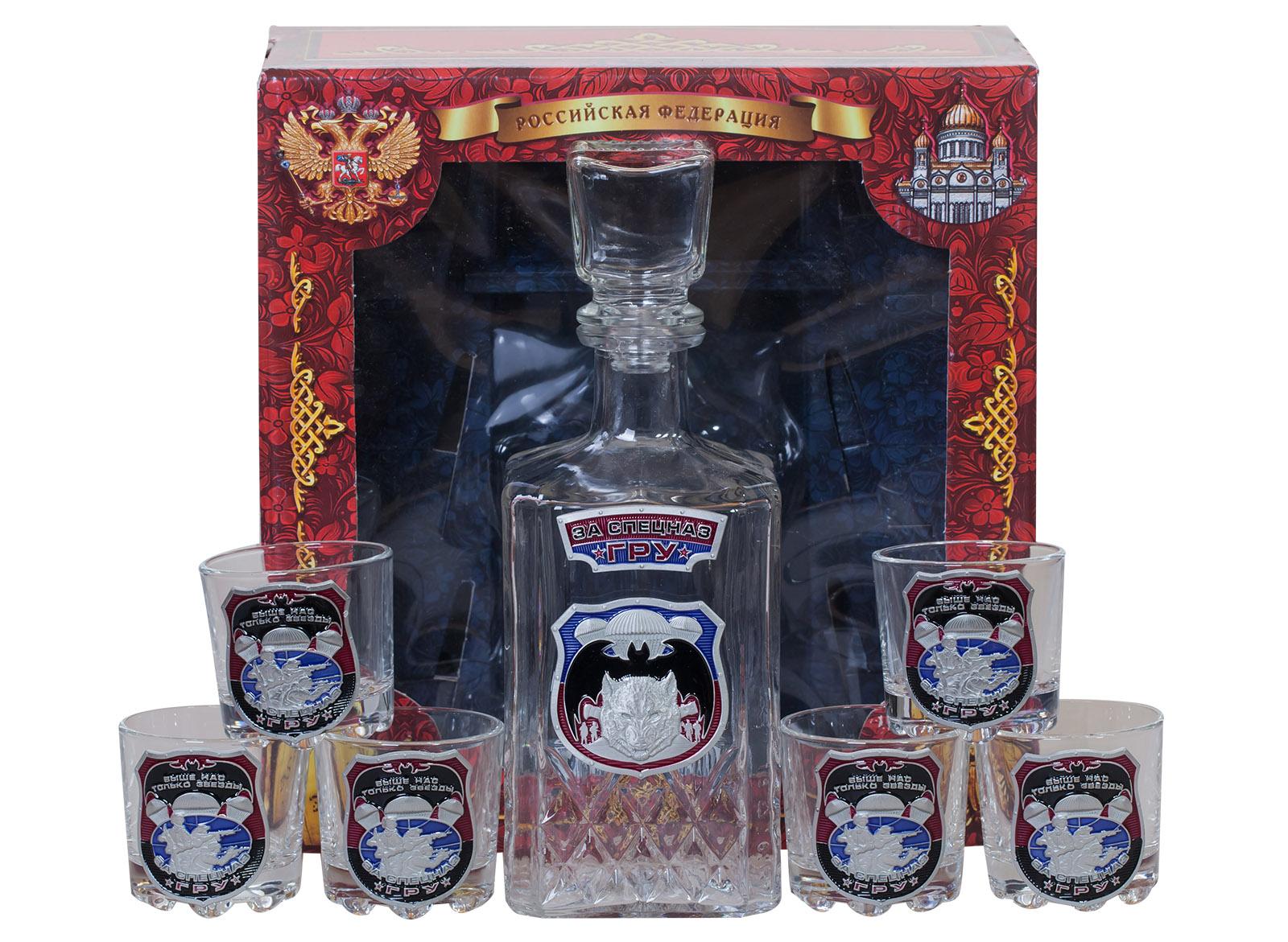 """Подарочный набор для спиртных напитков """"За Спецназ ГРУ"""""""