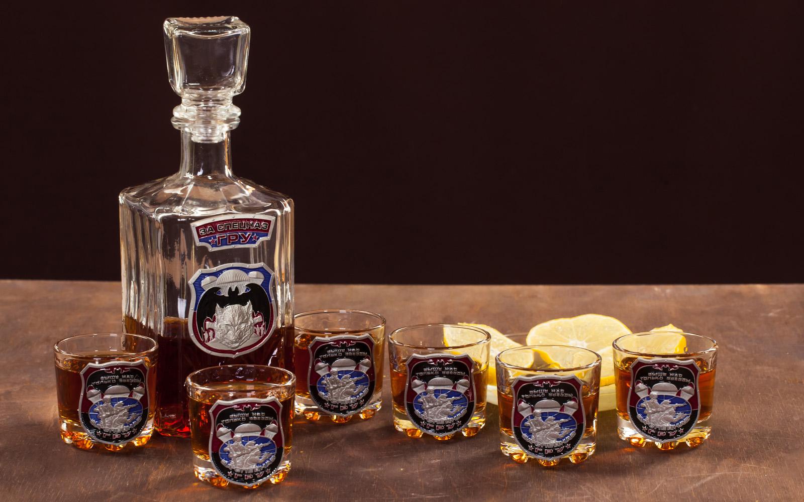"""Подарочный набор для спиртных напитков """"За Спецназ ГРУ"""" с доставкой"""