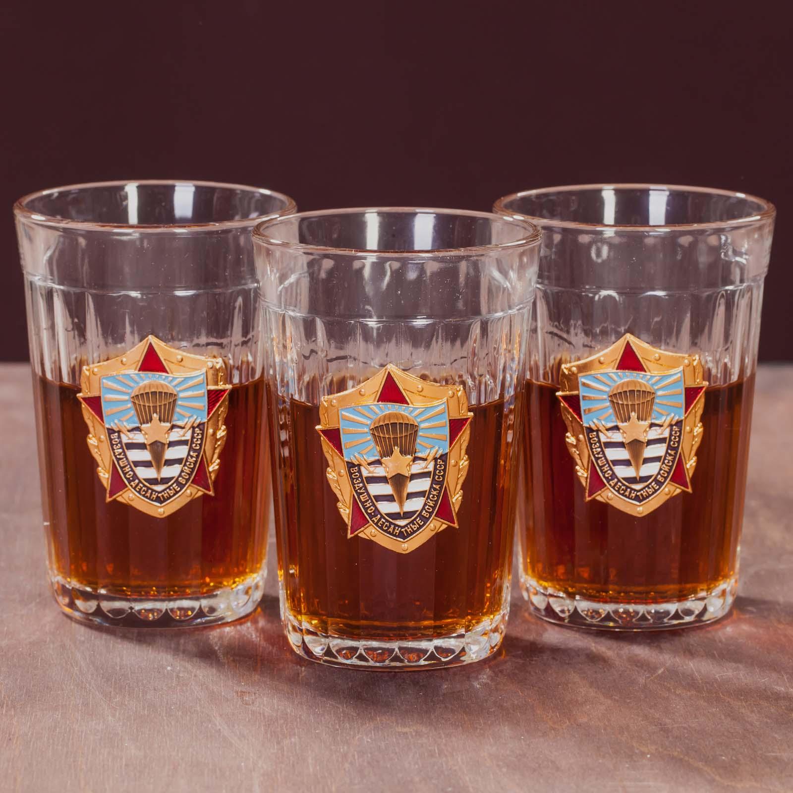 Подарочный набор стаканов с накладкой ВДВ СССР