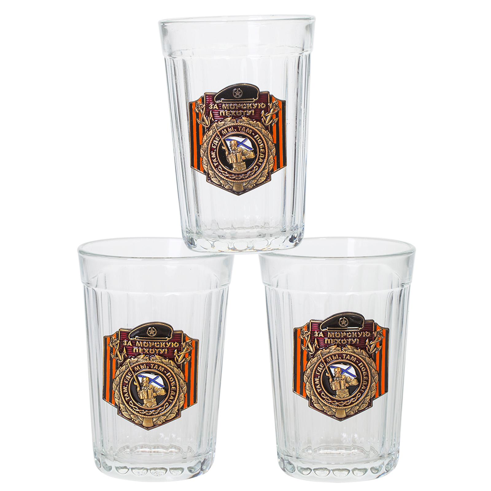 """Купить подарочный набор стаканов """"За Морскую пехоту!"""""""