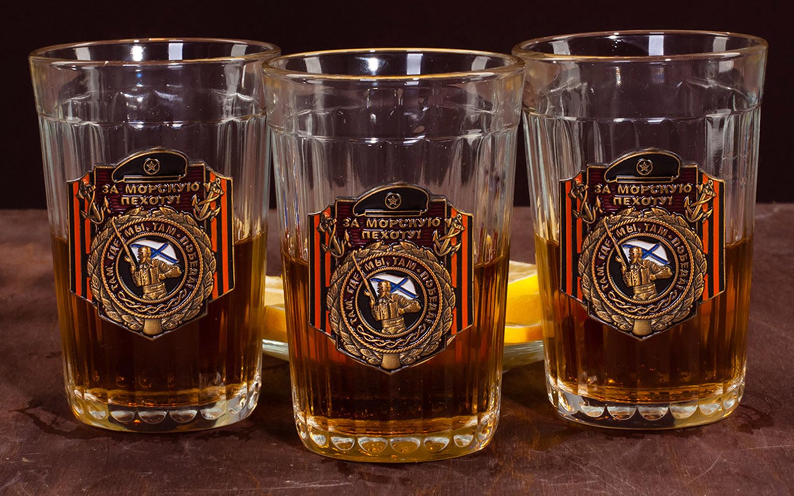 """Подарочный набор стаканов """"За Морскую пехоту!"""" с доставкой"""