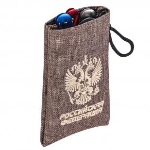 """Подарочный набор туриста """"Россия"""" в чехле. Нож, вилка, ложка, открывашка"""
