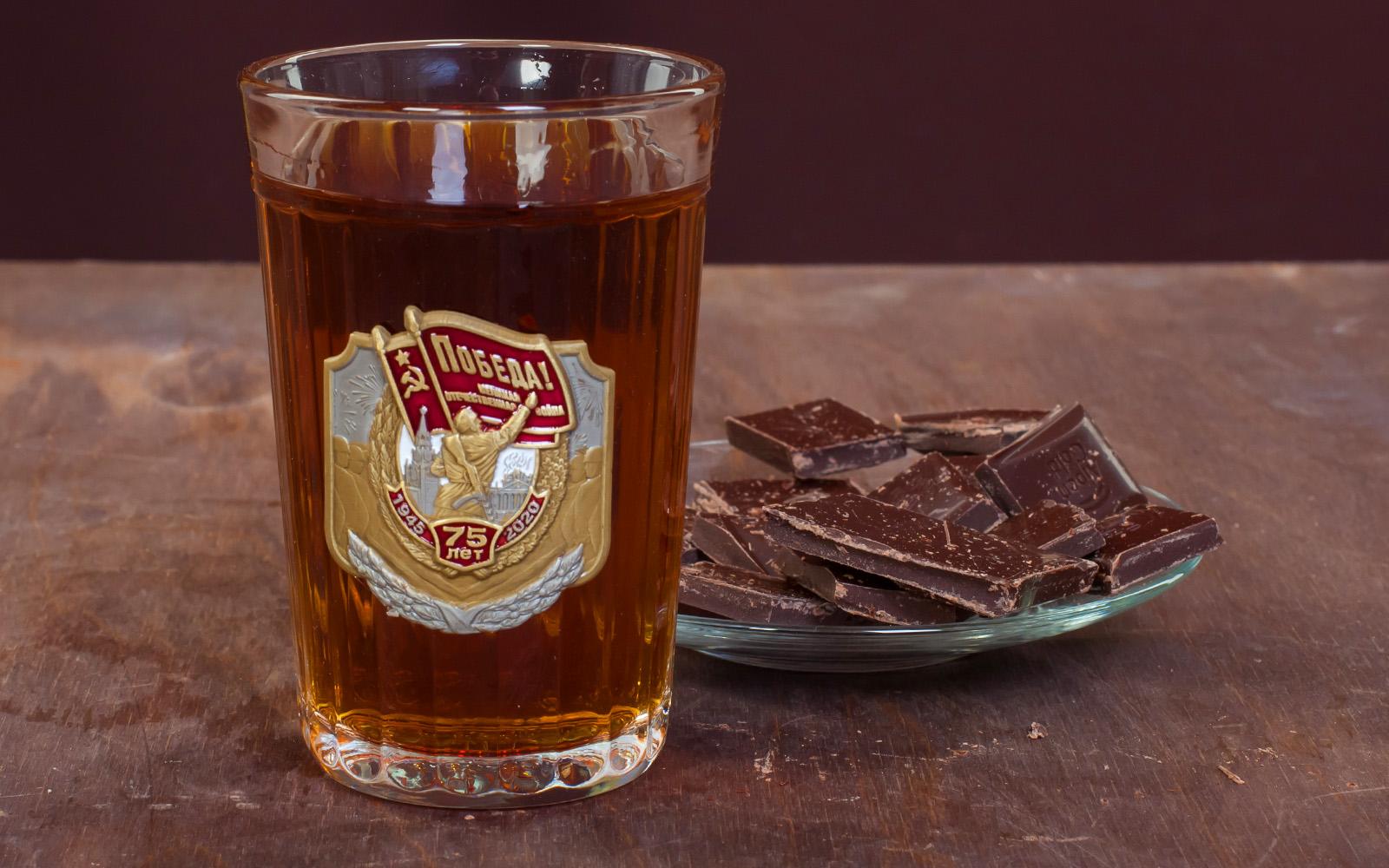 Подарочный стакан к 75-летию Великой Победы в ВОВ от Военпро