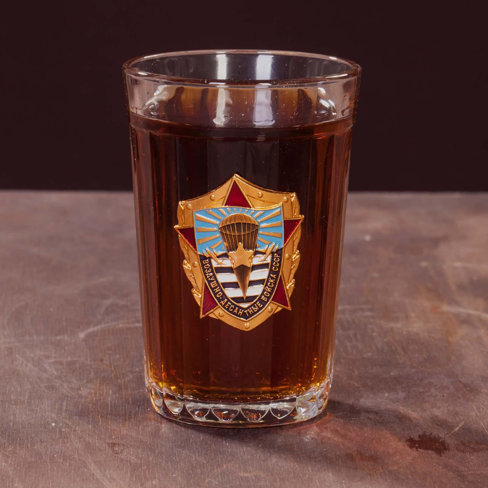 Подарочный стакан ветерану ВДВ СССР по лучшей цене