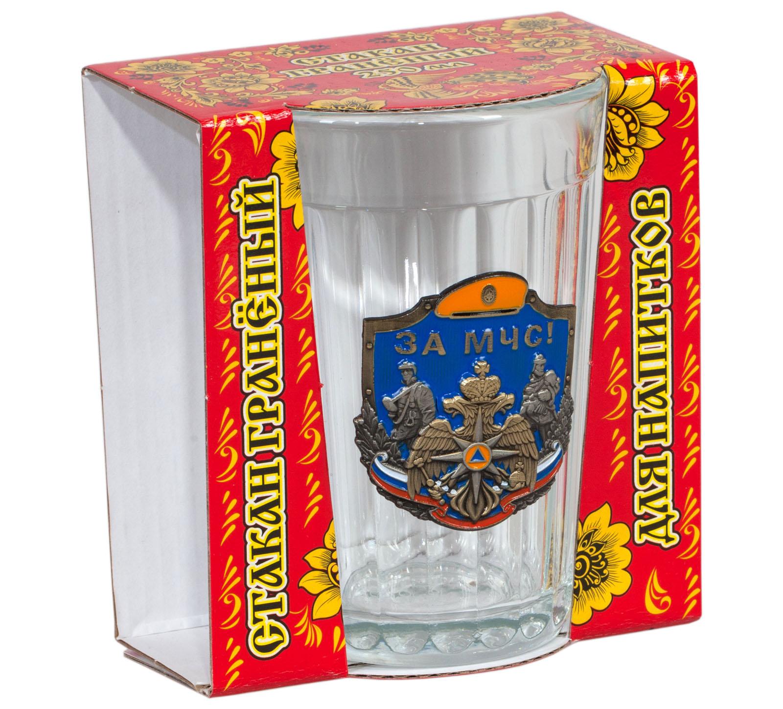 "Подарочный стакан ""За МЧС"""