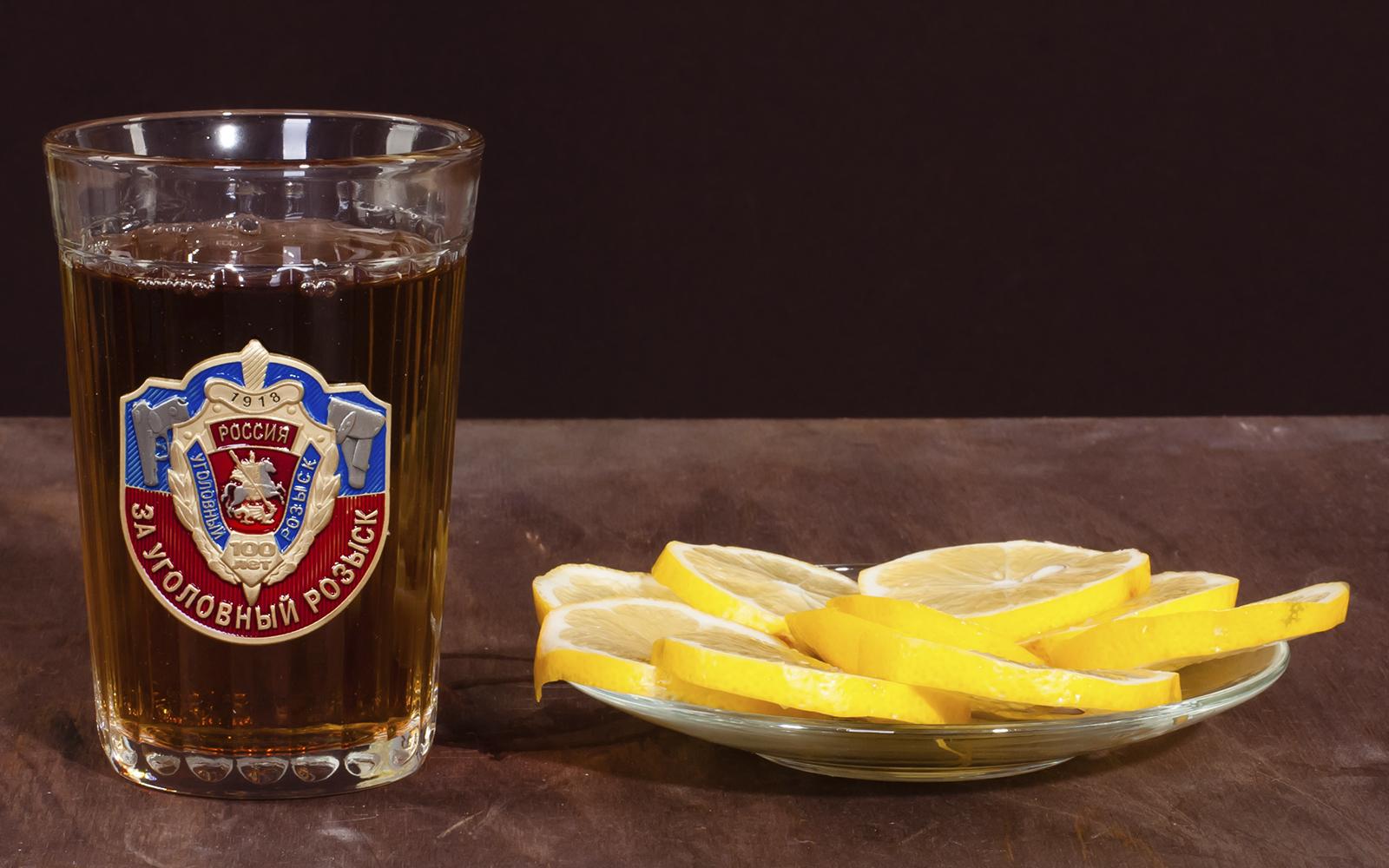 """Подарочный стакан """"За Уголовный розыск"""" по лучшей цене"""
