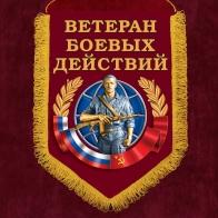 """Подарочный вымпел """"Ветеран боевых действий"""""""