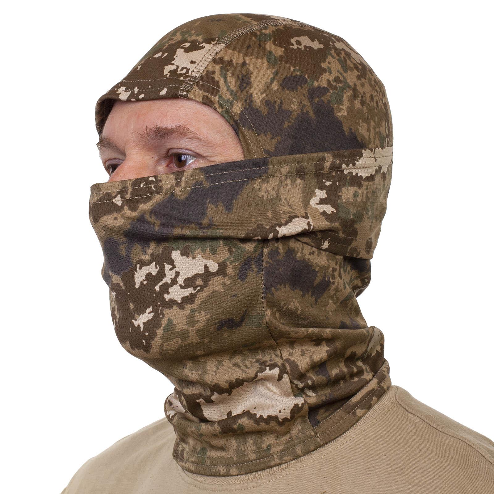 Купить в военторге трикотажную маску для лица с прорезью для глаз
