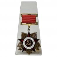 Подвесной орден Отечественной войны 1 степени на подставке