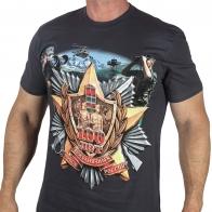 Мужская футболка с пограничным принтом