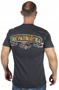 Мужская футболка с пограничным принтом по лучшей цене
