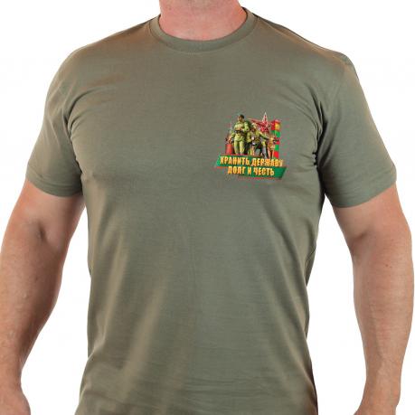 Мужская пограничная футболка с коротким рукавом.