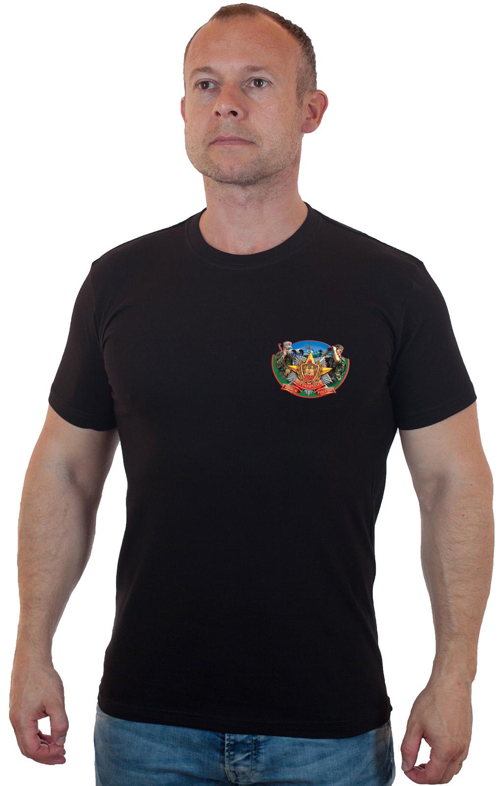 Мужская черная футболка Пограничные Войска – твой размер есть!