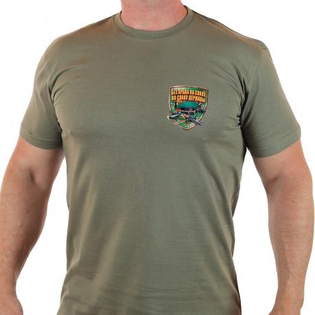 Мужская пограничная футболка хаки олива.