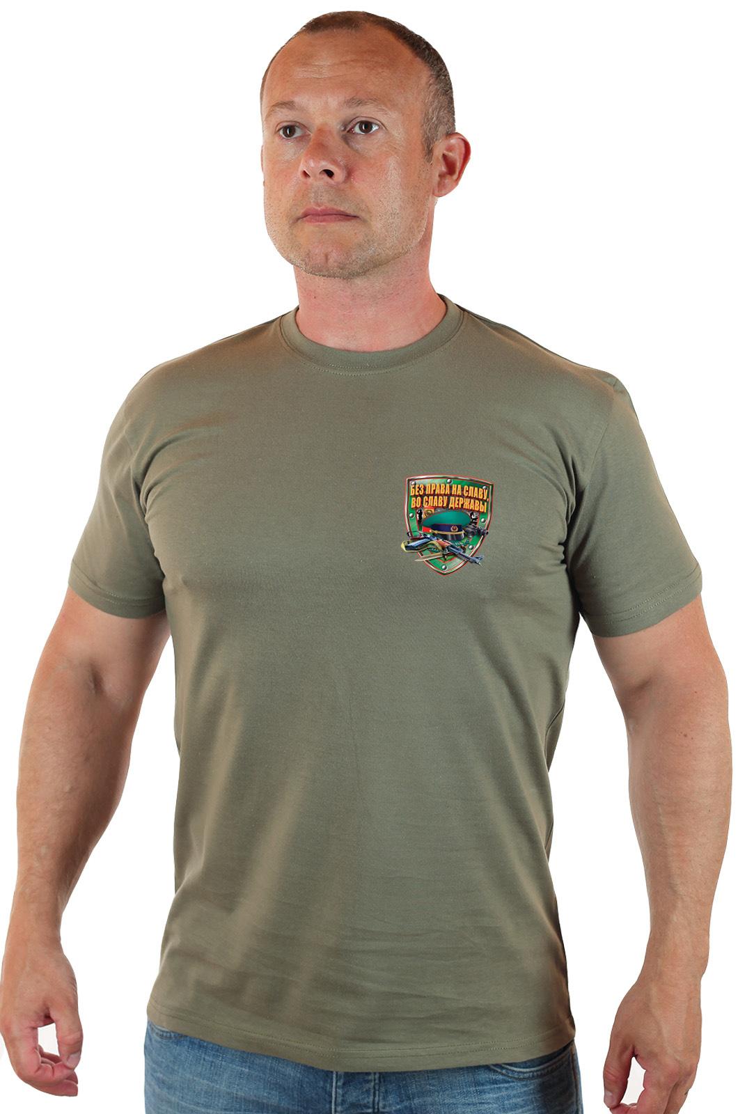 Купить в Москве оливковую пограничную футболку