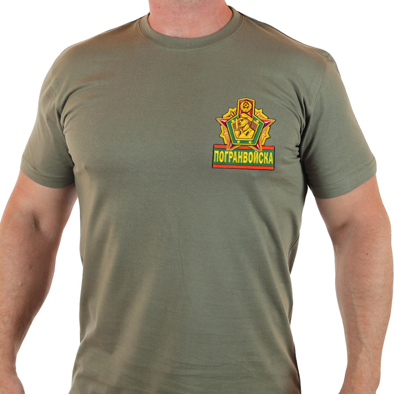 Мужская пограничная футболка хаки-олива