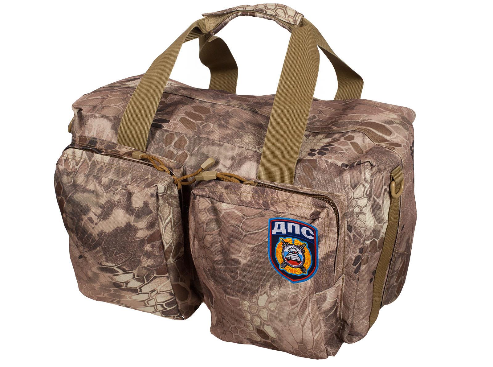 Походная камуфлированная сумка с нашивкой ДПС