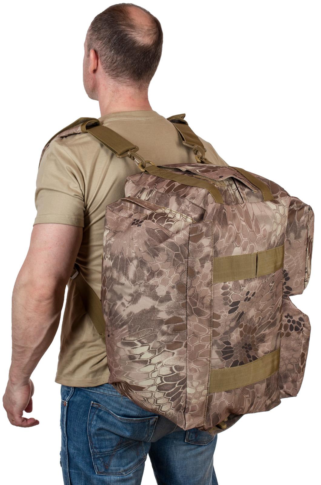 Походная камуфлированная сумка с нашивкой ДПС - купить в розницу