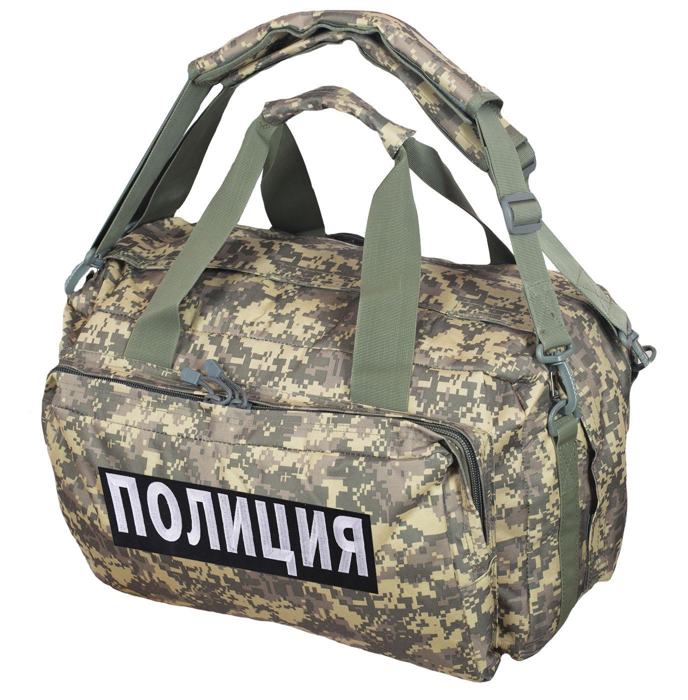 Лучшее тактическое снаряжение – плечевые и поясные сумки с шевронами Полиции