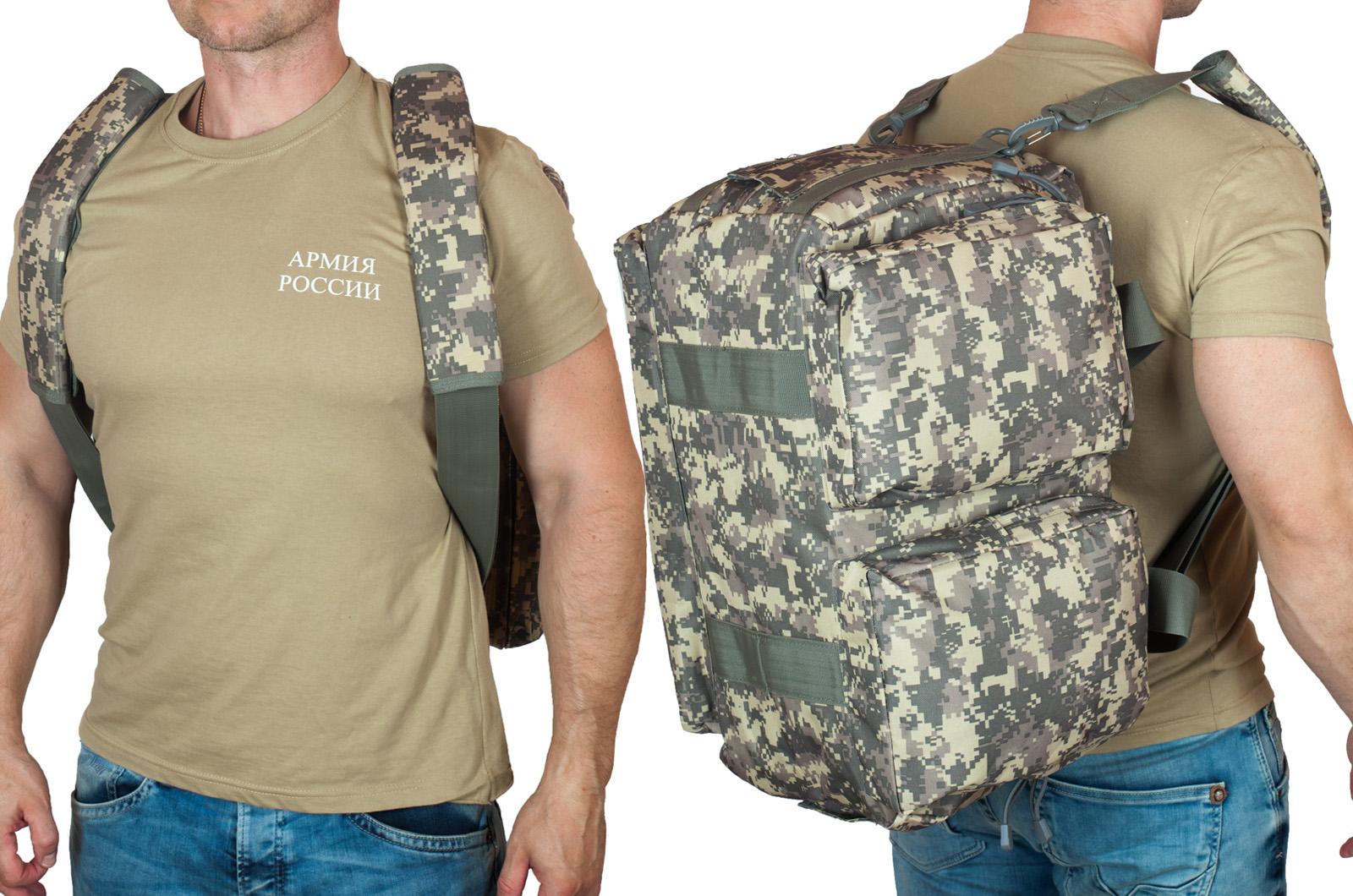 Походная камуфляжная сумка-рюкзак Ни пуха, Ни пера - купит в розницу