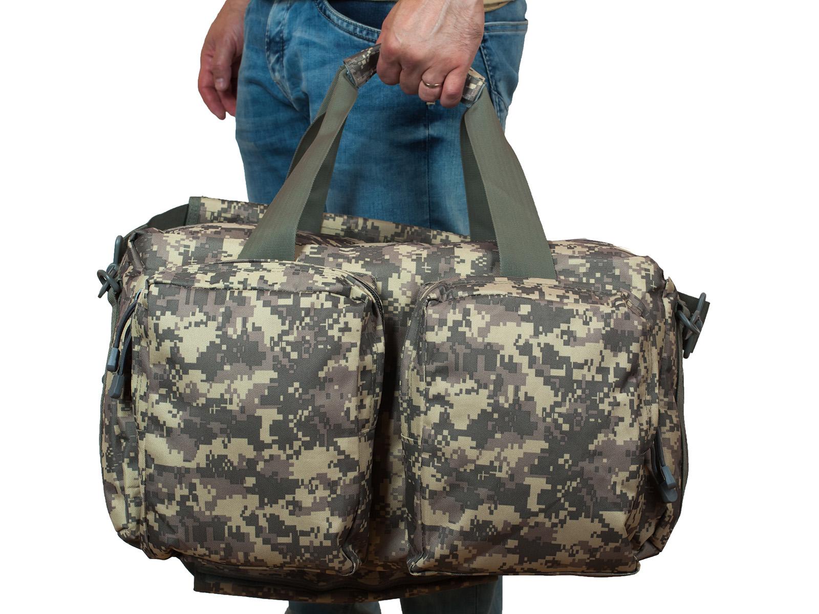Походная камуфляжная сумка-рюкзак Ни пуха, Ни пера - заказать оптом