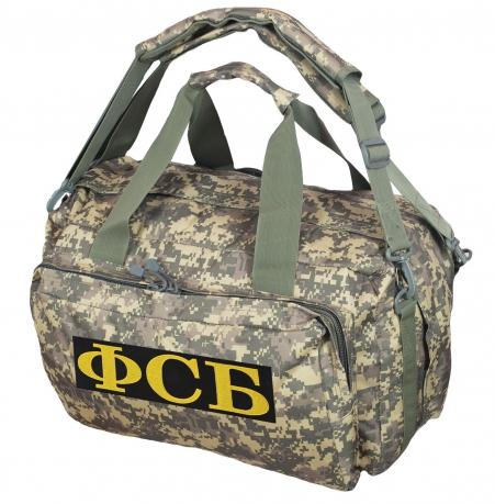 Походная камуфляжная сумка с нашивкой ФСБ