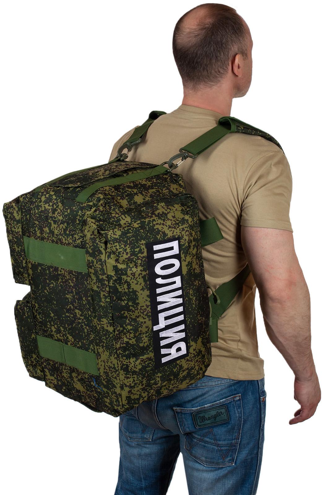 Купить походную камуфляжную сумку с нашивкой Полиция по выгодной цене