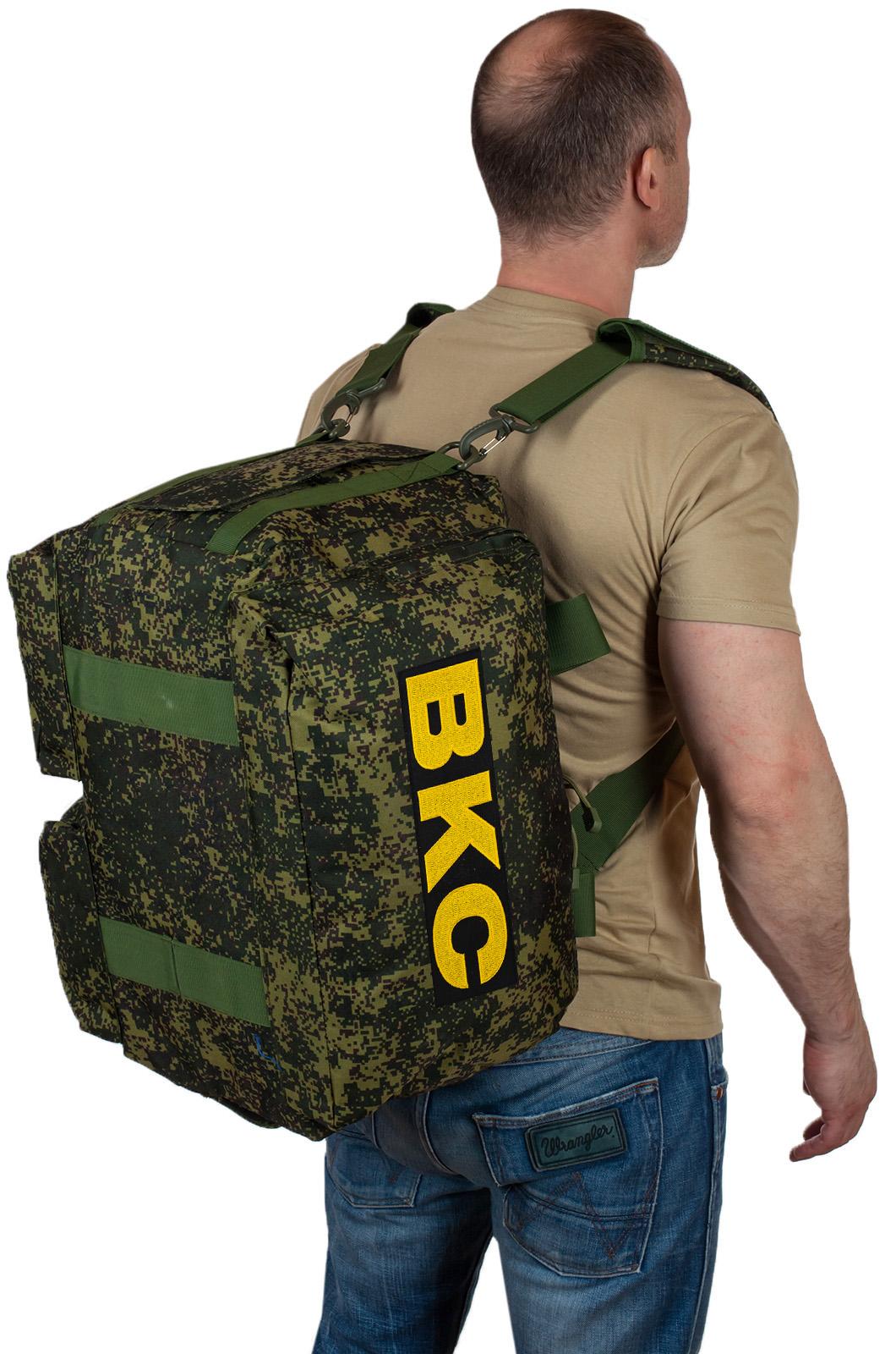 Купить походную камуфляжную сумку с нашивкой ВКС с доставкой или самовывозом