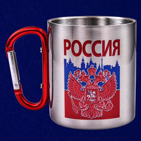 Походная кружка из нержавейки с гербом России
