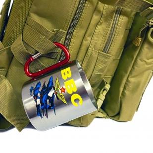 Походная кружка ВВС с ручкой карабином