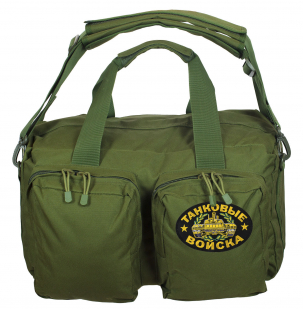 Походная мужская сумка-рюкзак с нашивкой Танковые Войска - купить в Военпро
