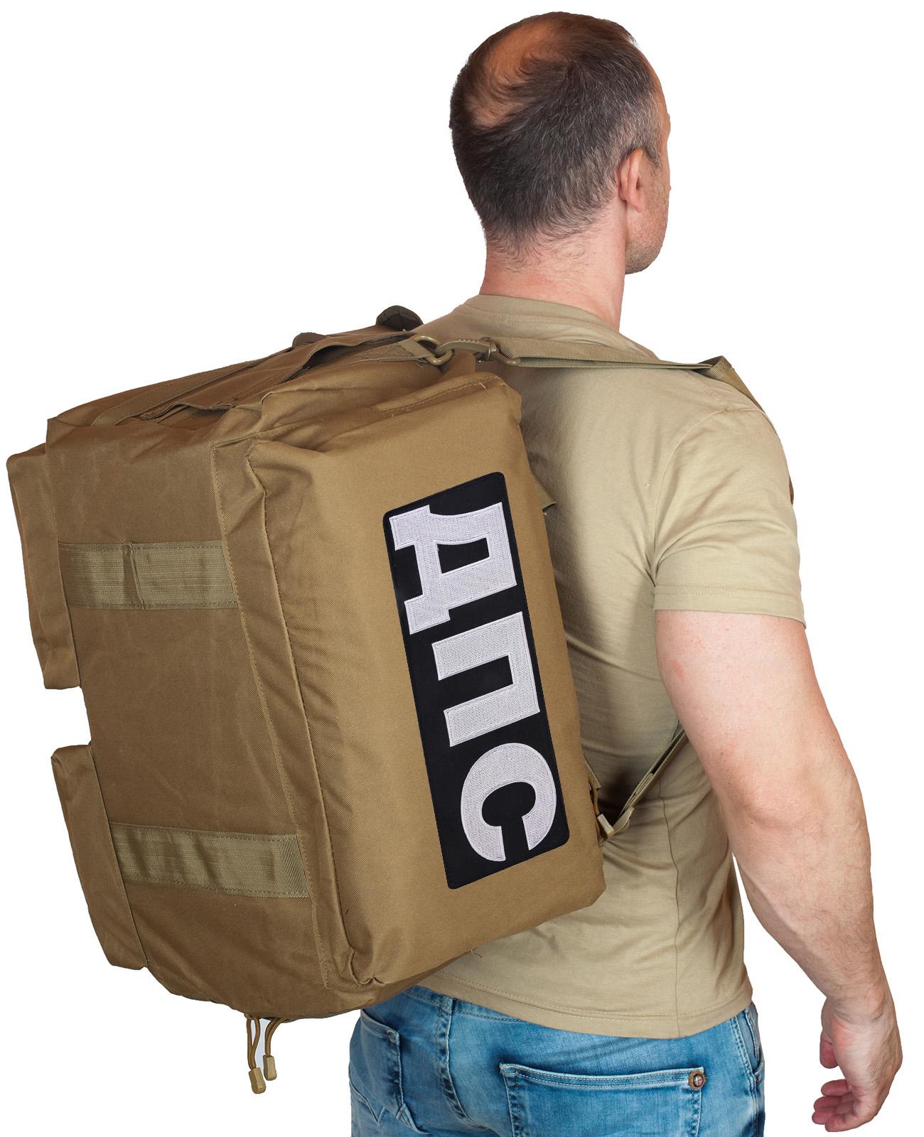Купить походную мужскую сумку с нашивкой ДПС по специальной цене