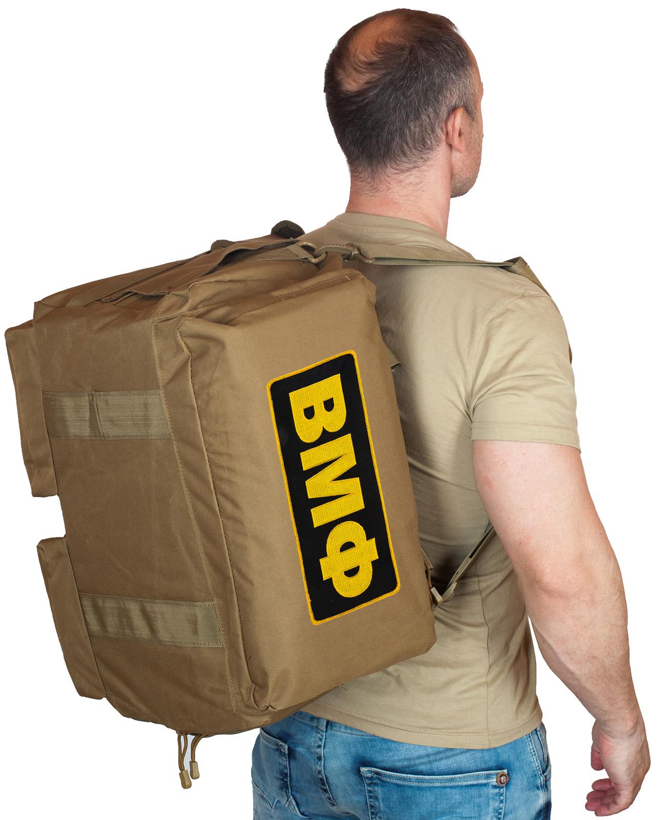 Купить походная мужская сумка с нашивкой ВМФ по выгодной цене