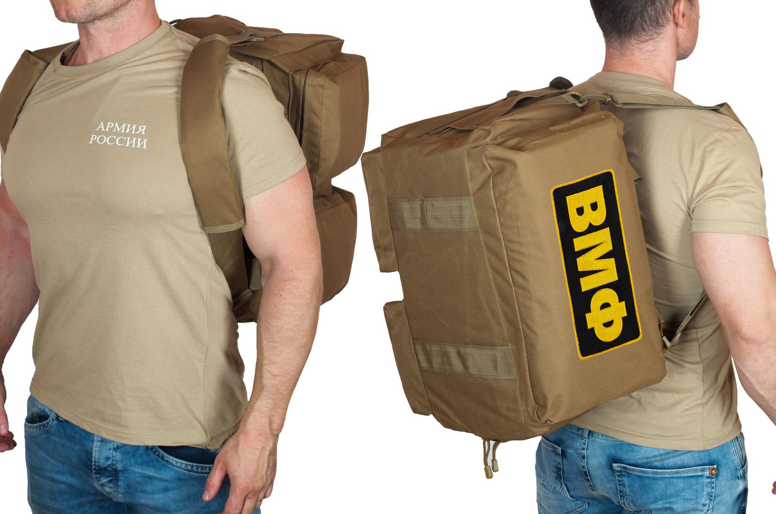 Походная мужская сумка с нашивкой ВМФ