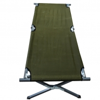 Походная раскладная кровать армейского образца (хаки-олива)