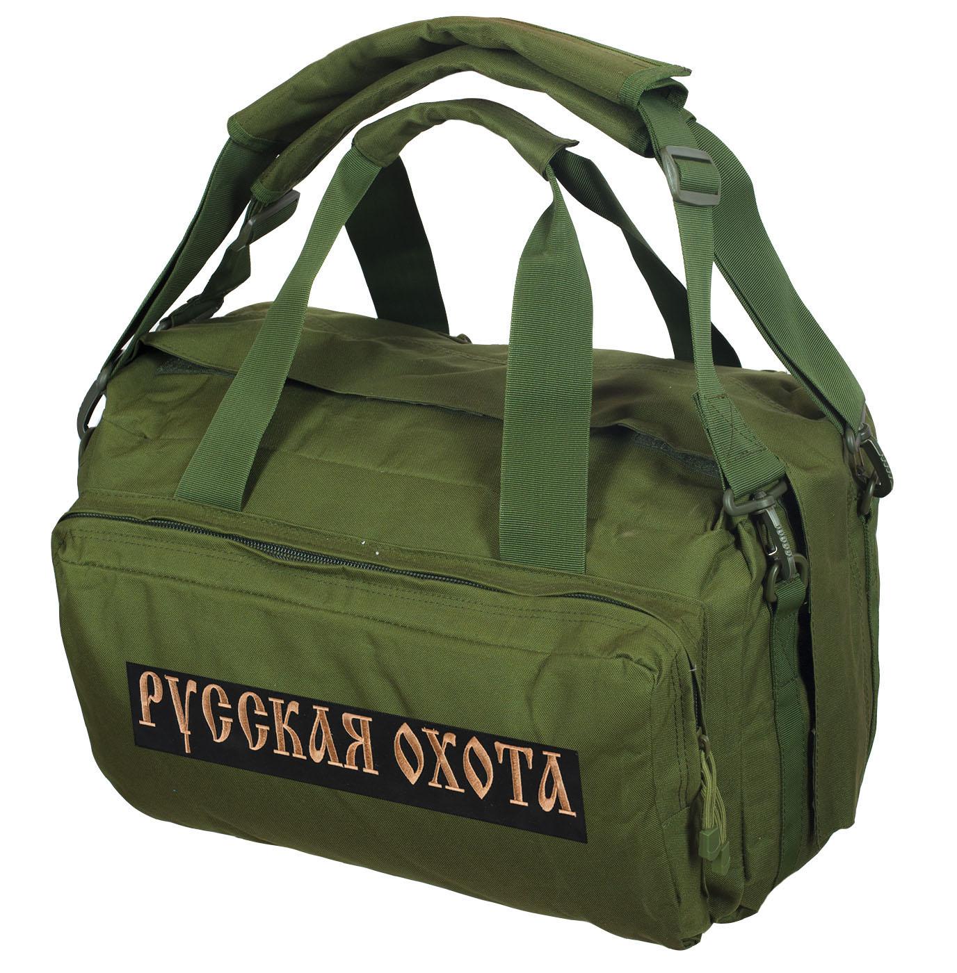 Походная сумка-рюкзак с нашивкой Русская Охота - купить онлайн