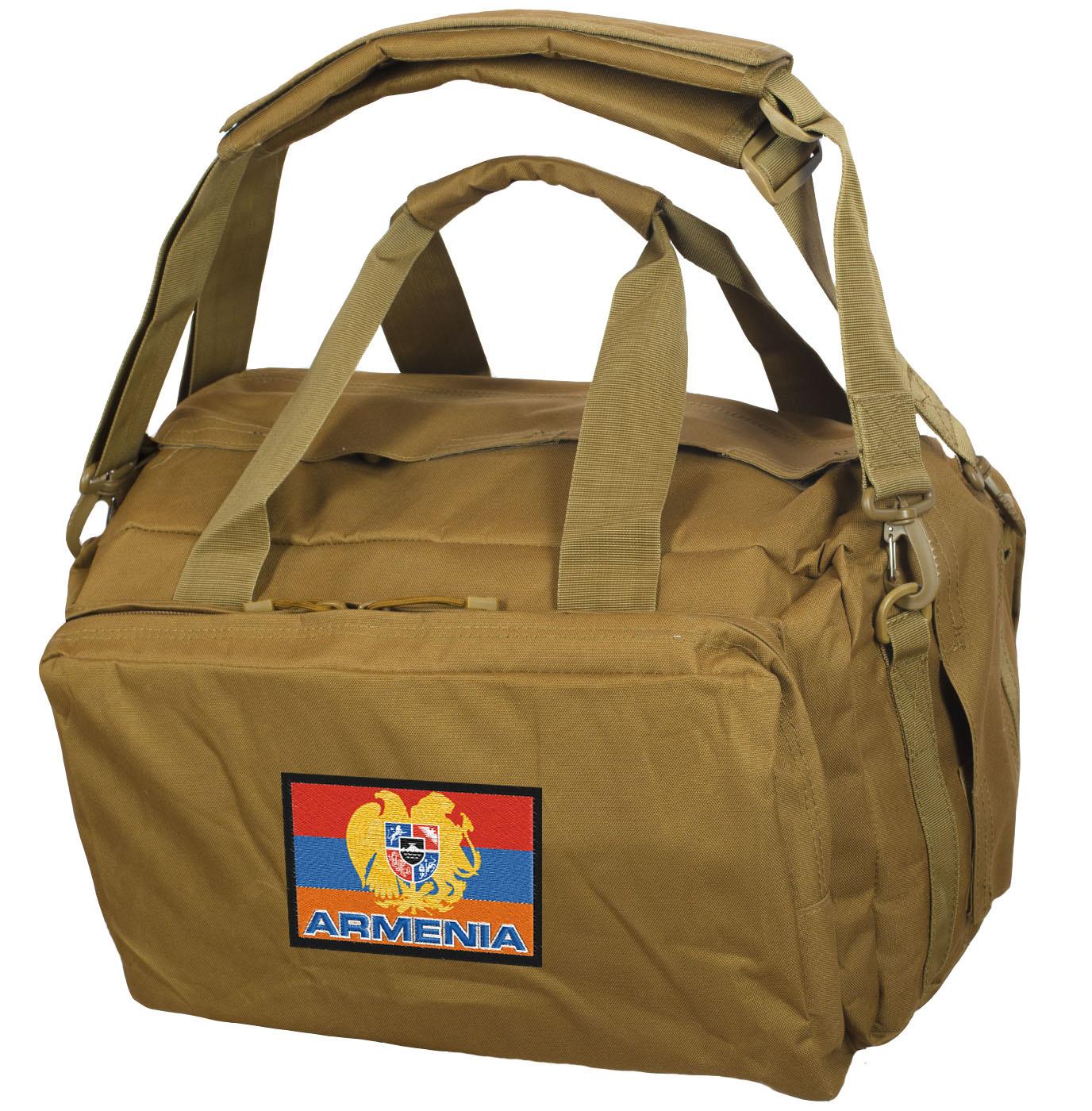 Походно-дорожная мужская сумка с армянской символикой