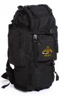 Походный черный рюкзак с эмблемой МВД России